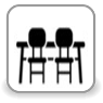 W pokojach - Stoliczek i krzesła