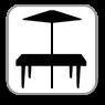 W pensjonacie - Taras ze stolikami